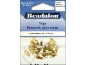 Beadalon Jewellery Tags Medium 8mm 25pc Gold Plated