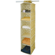 ClosetCandie 6-Shelf Organiser, Jasmine Gold