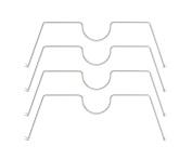 HSS Shelf Divider, Fits on any 41cm deep wire shelf, Chrome Colour, 4-PACK