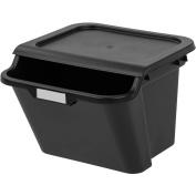 IRIS 39.4l Recycle Storage Bin, Black