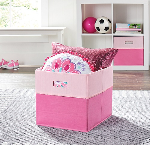 Better Homes Gardens Storage Bin Pink Pom By Better Homes And