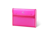 Lightahead LA-7553 Expanding File with 13 pockets, with mesh bag and zipper, Pink
