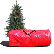 Large Artificial Christmas Tree Carry Storage Bag Holiday Clean Up 2.7m Red