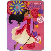 "Disney's Elena of Avalor ""Adventure is Calling"" 120cm x 150cm Plush Throw"