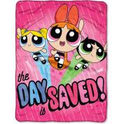 "Powerpuff Girls ""Day Saved"" 120cm x 150cm Micro Raschel Throw"