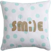 VCNY Home Smile Polka Dot 46cm x 46cm Square Decorative Throw Pillow