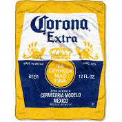 """Corona Extra """"Bottle Label"""" 120cm x 150cm Micro Raschel Throw"""