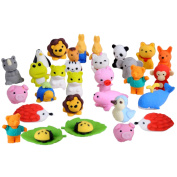 30 PCS 30 Styles Funny Puzzle Animals Pencil Erasers Puzzle Toys for Party Favours Games Prizes Carnivals Gift School Supplies