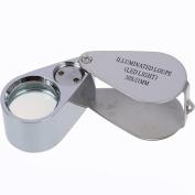 KINGMAS 30x 21mm Mini Jeweller Magnifier Magnifying Jewellery Eye Loupe With LED Light Illuminate