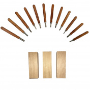 Beginners Wood Carving Kit 12 Wood Carving Knives and 3 Wood Blocks for Carving are Included in this Bundle Perfect for Kids and Beginners