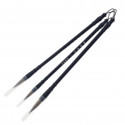 Asiv 3PCS Chinese Style Wolf Hair Chinese Caligraphy Kanji Japanese Sumi Drawing Brush Pen