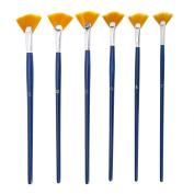 NGWAL Paint Brush Set Fan Nylon Acrylic Watercolour Paintbrush
