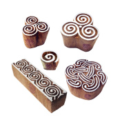 Artisan Designs Swirl and Spiral Wood Print Stamps