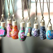 Polytree Polymer Clay Hanging Perfume Fragrance Bottle Refillable Car Home Air Freshener Bottle