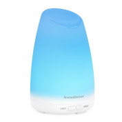 InnoGear 150ml Aromatherapy Essential Oil Diffuser Ultrasonic Portable Cool Mist Aroma Room Freshener with 7 Colour LED Night Lights and Waterless Auto Shut-off Function