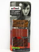 Scunci Colour Match No Slip Grip Curved Auburn Hair Pins - 48 Pcs.