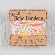 Natural Life Half Boho Bandeau Cream and Pink Geo Print