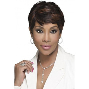 VIVICA A FOX PURE STRETCH CAP 20cm SHORT LAYERED ROUNDED SIDE CUT HUMAN HAIR BLENDED FULL WIG - H302
