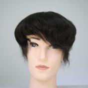 Lanting Human Hair Toupee 20cm x 25cm Mono Base with Hard PU Reforced Men Hair Piece #2 Hair Colour
