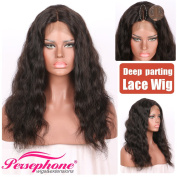 Persephone Body Wave Short Bob Human Hair Wigs for Black Women Best 9.7cm Deep Part Brazilian Lace Wig with Baby Hair 130 Density 30cm Natural Colour