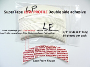 SuperTape Super Tape LOW PROFILE Shape LACE FRONT = 1 pack of 36 strips