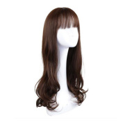 Long Curly Wig Glamorous Women Mixed Colour Wig 70cm -Chocolate Colour