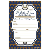 Little Prince Baby Shower Invitations (20 Count) With Envelopes