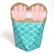 Let's Be Mermaids - Baby Shower or Birthday Party Favours - Gift Favour Boxes for Women & Girls - Set of 12