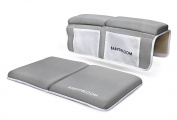 Bath Kneeler and Elbow Rest Bundle | Cushion Protection for Parents During Baby Bath Time with Extra Wide, Non Slip, Thick 3.8cm Foam in Neutral Grey | Great Baby Shower Gift by Baby Bloom
