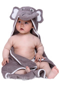 Hooded Baby Bath Towel, 100% Natural Terry Soft Absorbent Cotton, Large 80cm by 80cm Size