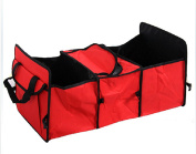 FUNNYGO Foldable Car Trunk Organiser 3-Compartment with Cooling and Insulation for Auto Front & Back Seat