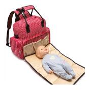 Bonamana Multifunction Backpack Nappy Bag Waterproof Baby Nappy Bag Mummy Bag with Changing Pad Large Capacity