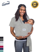 Heather Grey Baby Sling Carrier Wrap by Cozitot | Soft & Stretchy Baby Carrier | Baby Wrap Carrier | Small to Plus Size Baby Sling | Nursing Cover | Best Baby Shower