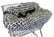 Itzy Ritzy Sitzy Shopping Cart and High Chair Cover, XOXO, Black/White