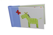 """Baby Photo Album 4 x 6 Brag Book """"Jungle Friends Boy"""" - Baby Shower Gifts, - Holds 24 Precious Photos, Acid-free Pages"""