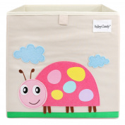 Foldable Storage Box Toy Bin 33cm , Ladybird