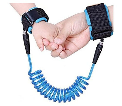 Baby Child Anti Lost Safety Hook and loop 2.5M Wrist Link, Outdoor Safety,Double Layer Safety Hook and loop For Babies (Blue)