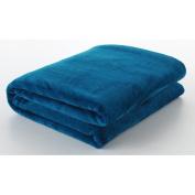 Berrnour Home Silky Touch Blanket Velvet Plush Throw, 120cm W x 150cm L