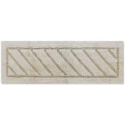 Berrnour Bath Runner Rug, Super-Soft, Heavyweight, Hand-Tufted, Natural Cotton, Washable, 50cm x 150cm