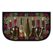J and M Home Fashions Wine Bottle Slice Kitchen Mat
