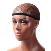 V'NICE Black Net Wig Cap Open End Mesh Wig Cap for Synthetic Wig and Human Hair Weaves 1 Piece/lot