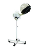 D Salon Portable Professional Salon Hair Steamer With Rolling Stand Base Hood Salon Beauty Spa