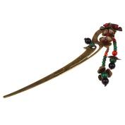 MonkeyJack Ancient Chinese Beaded Tassel Pendant Hair Stick Antique Brass Hair Jewellery