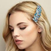 QueenMee Vintage Hair Clip Leaf Hair Clip Rhinestone Hair Clip Crystal Hair Barrette Vintage Barrette Hair Barrette With Crystals