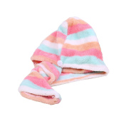 FAS1 Microfiber Hair Towel twist Turban Hair Drying Turban Towel with Super Absorbent for Kids Adults Long Curly Hair
