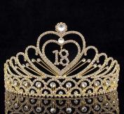 Janefashions Eighteen Years Old 18 Birthday Party Rhinestone Tiara Crown Hair Combs T2305