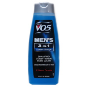 V05 Men's 3 In 1 Shampoo,Conditioner & Body Wash With Ocean Surge