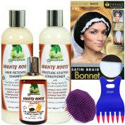Fountain organic hair growth, scalp therapy, scalp treatment, natural hair cleansing shampoo with coconut & castor oil, honey, hemp conditioner combo