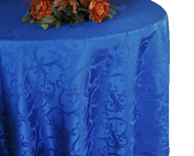 Wedding Linens Inc. 270cm Round Damask Jacquard Polyester Tablecloths Table Cover Linens for Restaurant Kitchen Dining Wedding Party Banquet Events - Royal Blue