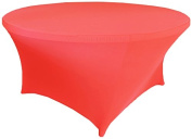 Wedding Linens Inc. Wholesale (200 GSM) 1.8m (180cm ) Round Spandex Stretch Fitted Table Cover Tablecloths Coral